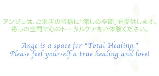 アンジュはご来店の皆様に「癒やしの空間」を提供いたします。癒やしの空間で心のトータルケアをご体験ください